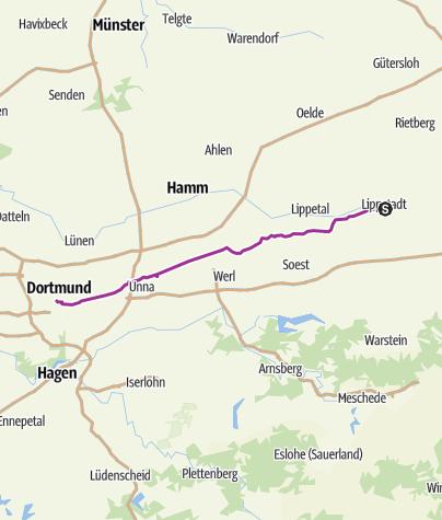 Karte / Metropolzubringer Lippstadt-Dortmund