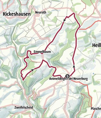 Map / TOUR 3 (HÖHEN-Rundweg): Volksfreund Wandertag 2019