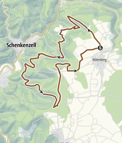 Karte / MTB-Tour Rö - Müllerswald - Muckenreute - Zollhaus - Rö