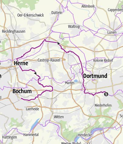 Bochum Karte.Hörde Bochum über Emscherweg Radtour Outdooractive Com