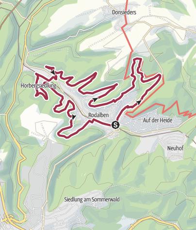 Map / Le Felsenwanderweg à Rodalben
