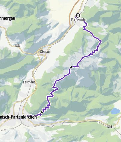 Map / Flinkfüßer - Estergebirgsdurchquerung - schnelle Gruppe
