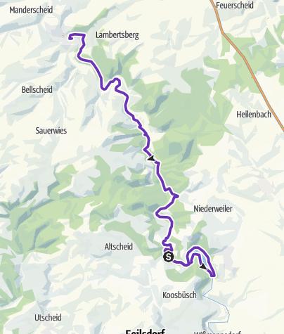 Karte / EIFELMARATHON - STRECKE - HALBMARATHON