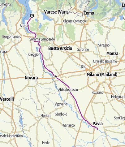 Karte / Ispra - Pavia