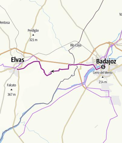 Karte / Badajoz-Elvaz_oa