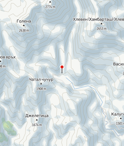 Karte / Hütte Pirin