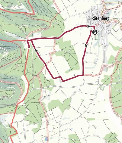 Karte / Rötenberger Bänkletour