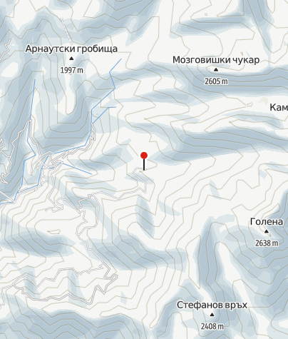 Karte / Hütte Kamenitsa (ehem.: Begovitsa)