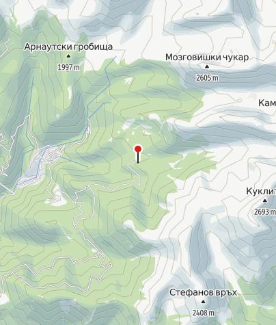 Map / Hütte Kamenitsa (ehem.: Begovitsa)