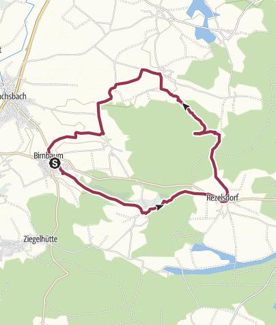 Karte / Karpfenteichrunde - Birnbaum - Rezelsdorf - Traishöchstädt - Linden