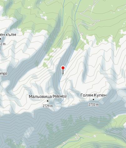 Karte / Hütte Maljovitsa