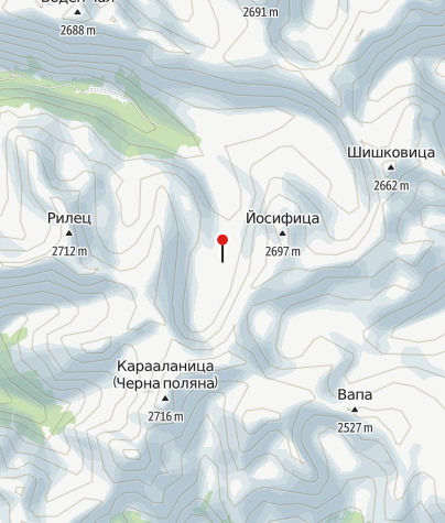 Karte / Hütte Ribni Ezera