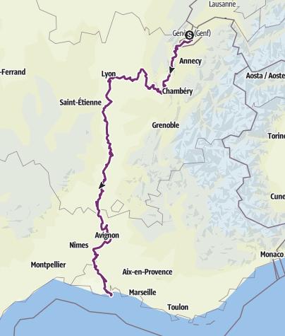 Karte / Tour aus GPX-Track am 19. Mai 2019