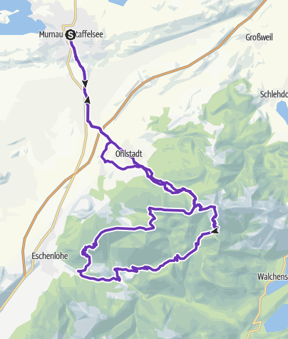 Karte / Bluelandtrail Strecke