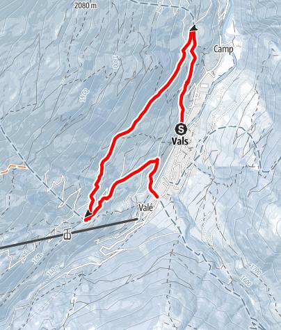 Map / Winterwanderung Vals - Soladüra - Zorts - Leis - Vals