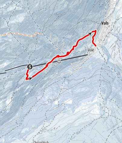 Map / Winterwanderweg Gadastatt - Moos - Leis -Vals