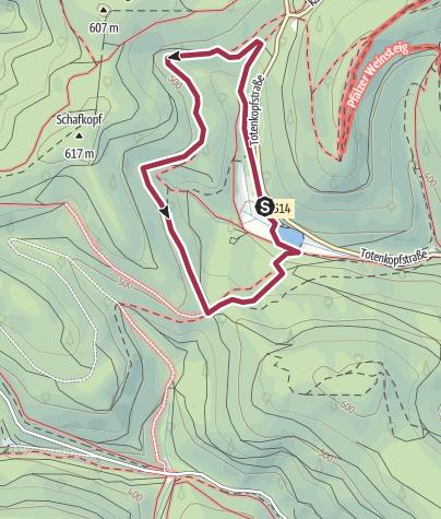 Karte / Auerochsenweg bei St. Martin