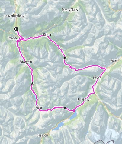 Map / Alpen Challenge Lenzerheide 2019 – Kurzstrecke