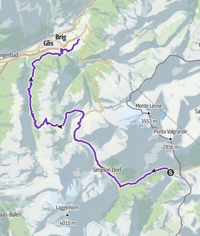 地图 / Gondo Marathon 1. Etappe