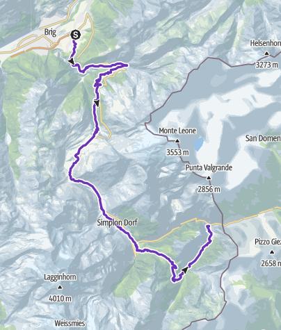 Mapa / Gondo Marathon 2. Etappe