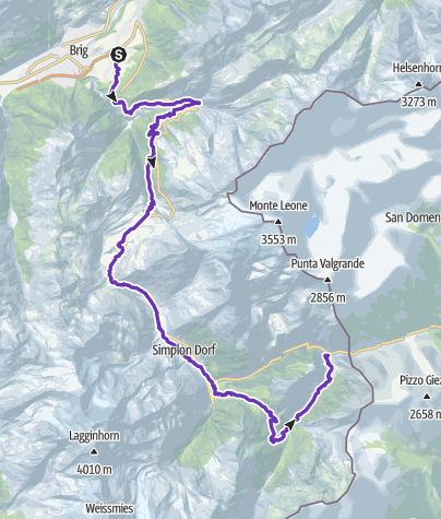 Karte / Gondo Marathon 2. Etappe