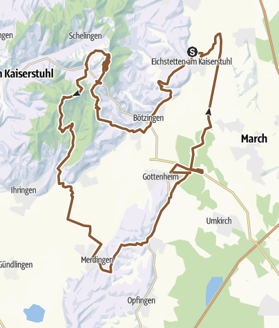 Map / MTB-Runde am Kaiserstuhl