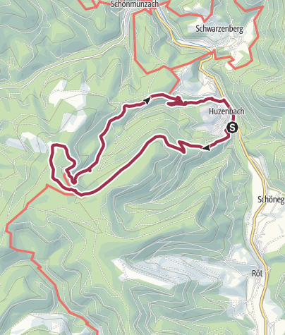 Karte / Wanderung zum Huzenbacher See