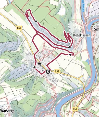 Map / Geplante GustiWanderung am 17. Juni 2019
