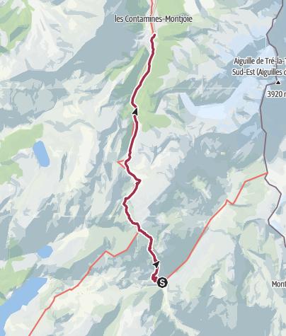 Map / TMB J9 - Chapieux - Contamines
