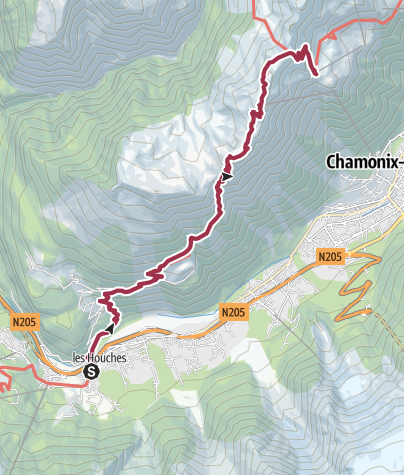 Map / TMB J 11 - Les Houches - Brévent