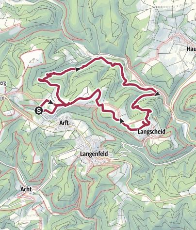 Karte / Wacholderweg ab Haus Am Raßberg