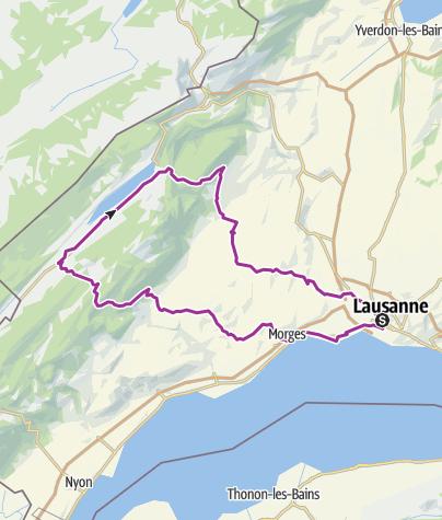 Cartina / Marchairuz - Molendruz depuis Lausanne