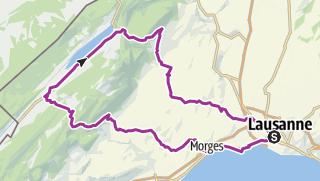 Karte / Marchairuz - Molendruz depuis Lausanne