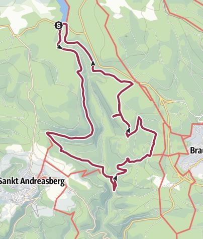 Cartina / Oderteich, Rehberger Graben, Rinderstall, Silberteich, 4 Stempel HWN