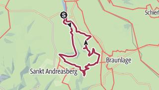 Karte / Oderteich, Rehberger Graben, Rinderstall, Silberteich, 4 Stempel HWN