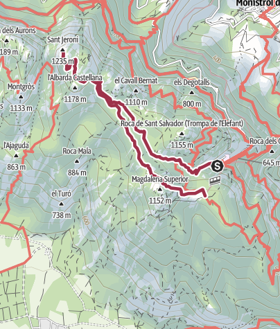 Karte / Sant Jeroni y les Escales dels Pobres