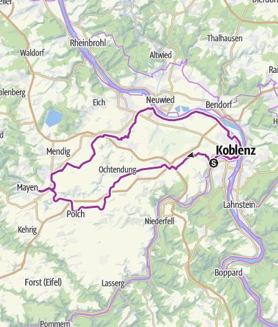 Karte / Rundweg-Radweg-Maifeld