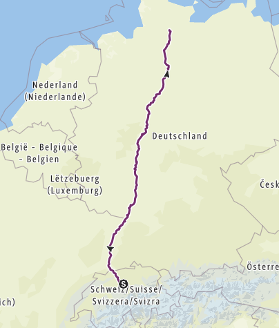 Karte / Tourenplanung am 16.05.2019