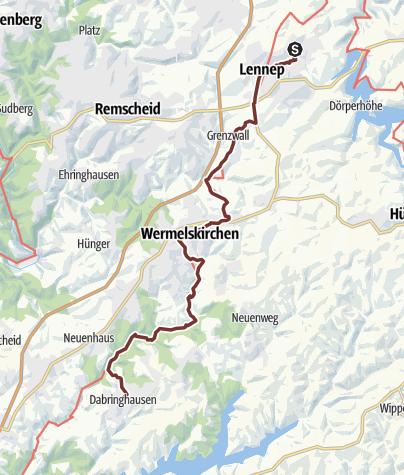 Map / KPW2019_08 von Lennep nach Dabringhausen am 26.9.2019