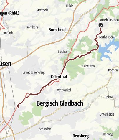 Mapa / KPW2019_09 von Dabringhausen nach Köln Dünnwald am 27.6.2019