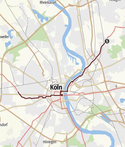 Map / KPW2019_10 von Koln Dunnwald nach Köln Müngersdorf am 28.6.2019