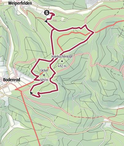 Karte / Schöner familienfreundlicher Wanderweg