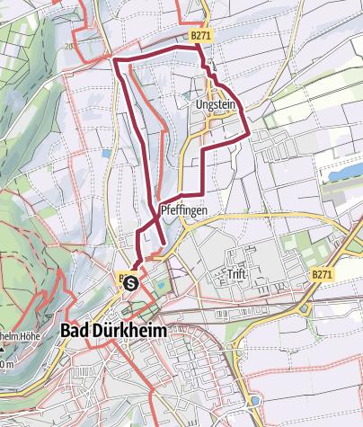 Karte / Bad Dürkheim - Riesenfass - Römervilla - Ungstein