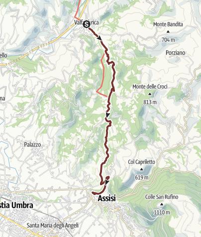 Cartina / Valfabbrica - Assisi