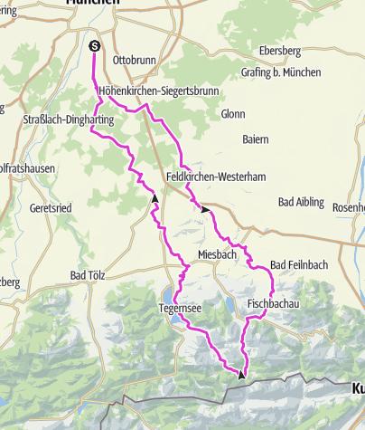 Map / Die Valepp über den Spitzingsattel mit Kuchen bei Krupp