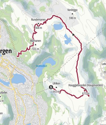 Carte / Rando Ulriken Fløyen