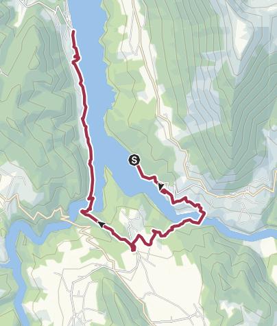 Karte / Lac de Monteynard