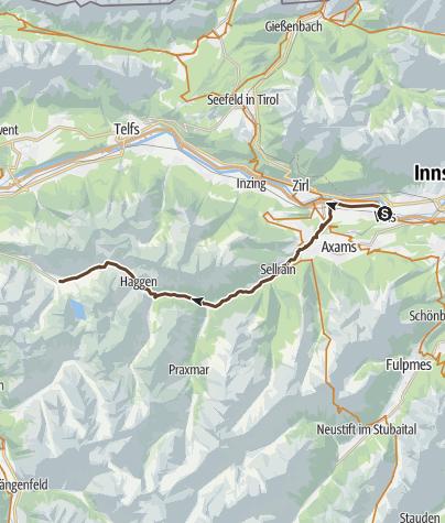 Karte / Transalp Etappe 2 Seefeld - Kühtai