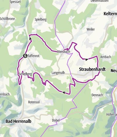 Carte / vom Albtal um Schraubenhardt 22. Juni 2019