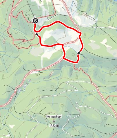 Karte / Vitaltour 1: Buchenberg-Gipfelrunde